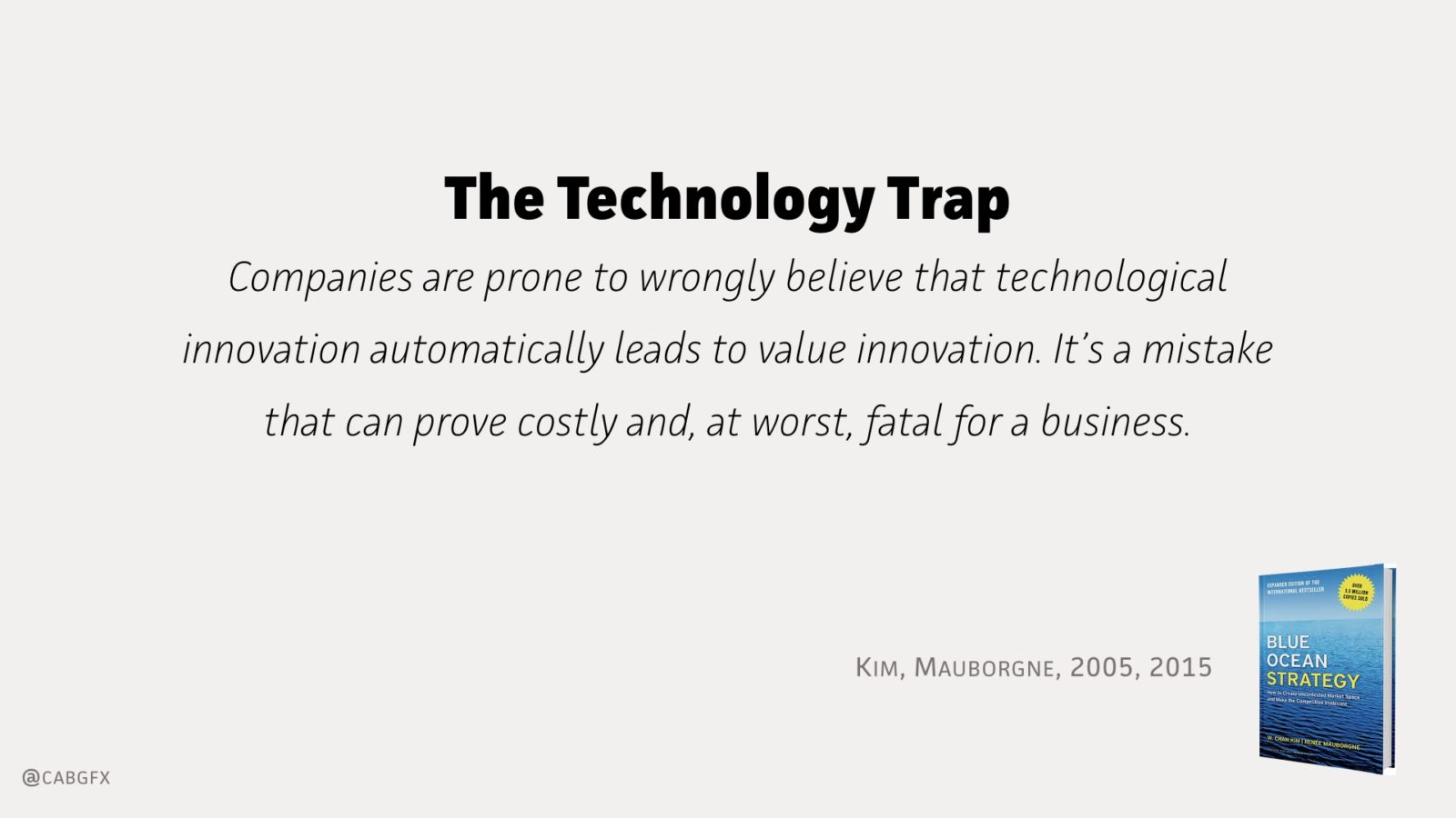 The Technology Trap - Kim, Mauborgne, 2005